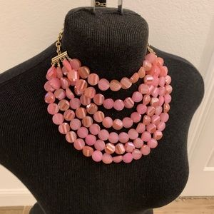 Baublebar pink stone layer necklace - choker